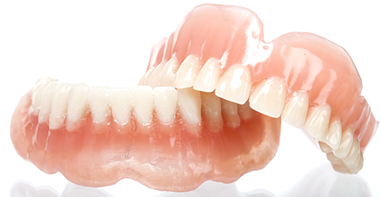 Stock image of complete dentures