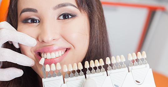 Stock image of tooth colored fillings